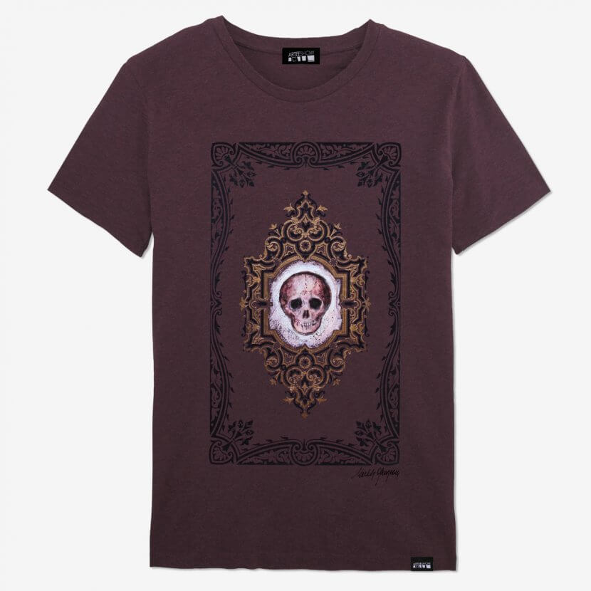 T-shirt homme Michèle Grosjean imprimé en Belgique artiste belge coton biologique
