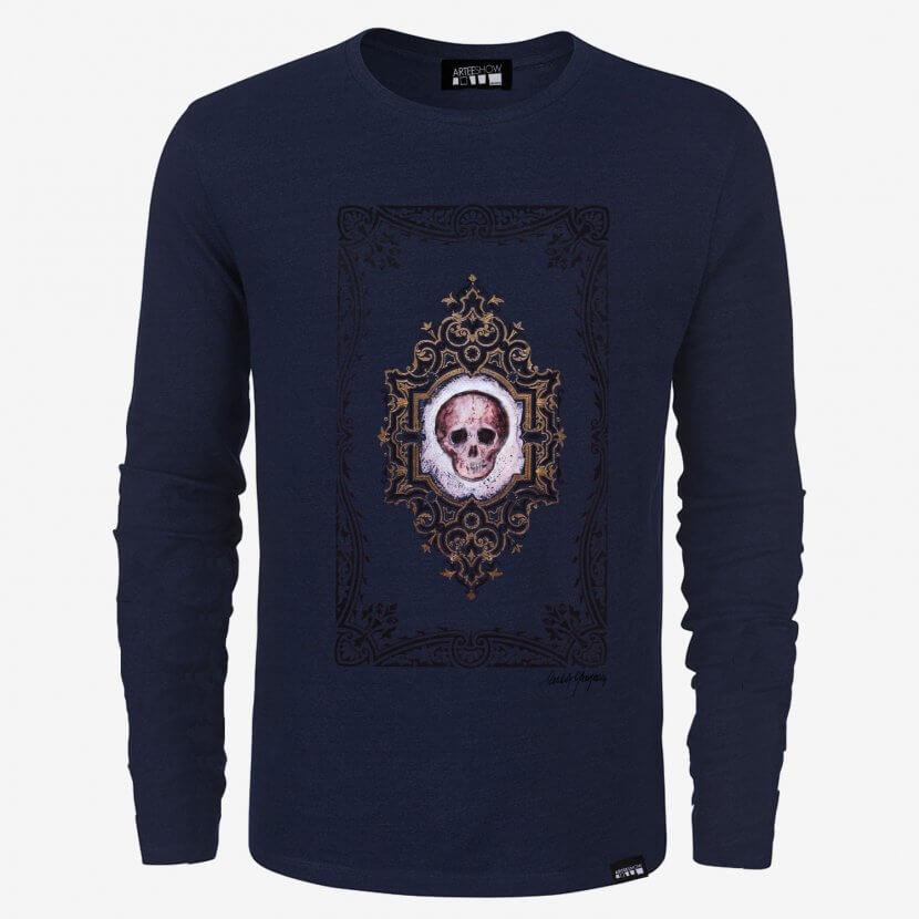 T-shirt à manches longues homme inspiré de Michèle Grosjean artiste belge