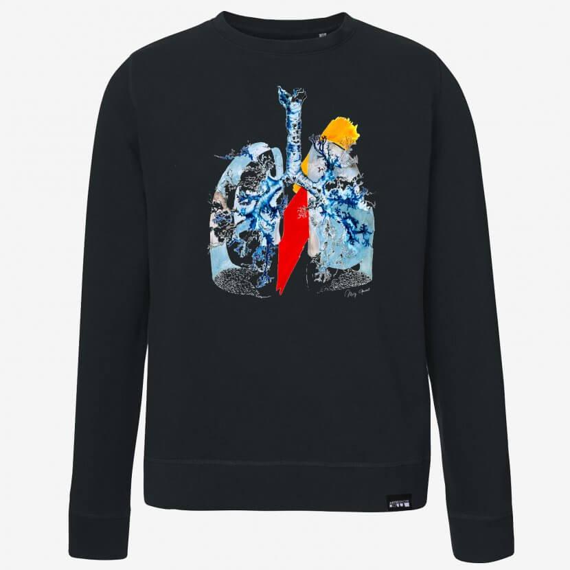 Sweat-shirt unisexe original série limitée artiste belge Mig Quinet