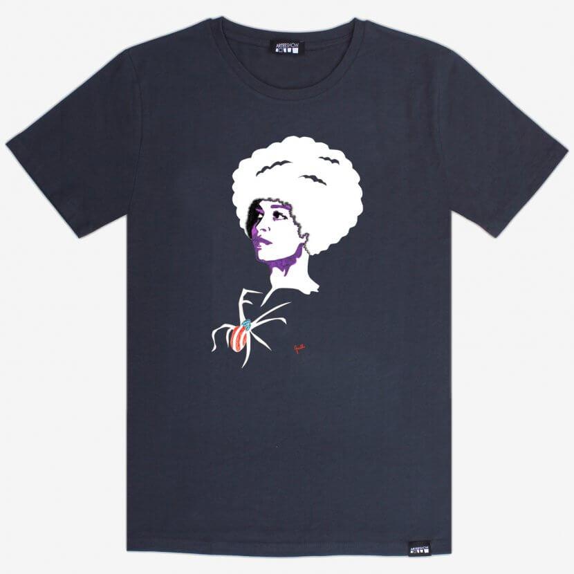T-shirt homme india ink grey inspiré de Evelyne Axell «L'Entretien», artiste pop belge