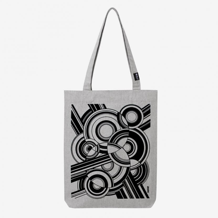 Tote bag heather grey original série limitée Pierre-Louis Flouquet artiste belge