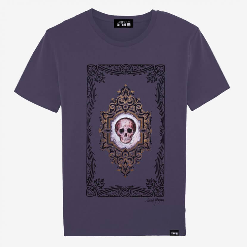 T-shirt Homme tête de mort plum Michèle Grosjean