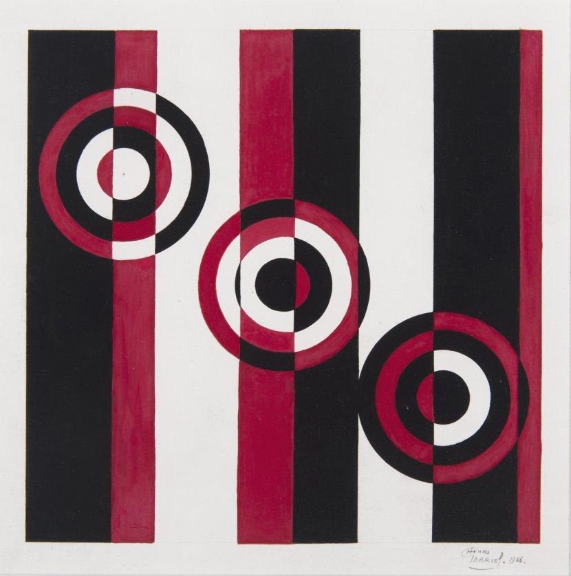 Henri Gabriel «Hommage à Vantongerloo» gouache sur papier 1966