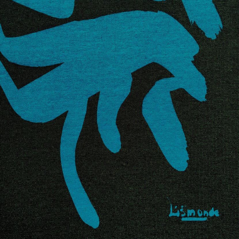 Détail t-shirt imprimé original artiste belge Lismonde