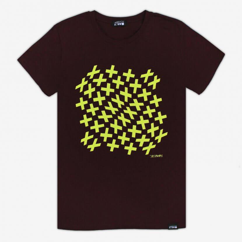 Tee-shirt imprimé en Belgique Bruxelles de Jean-Pierre Maury artiste belge