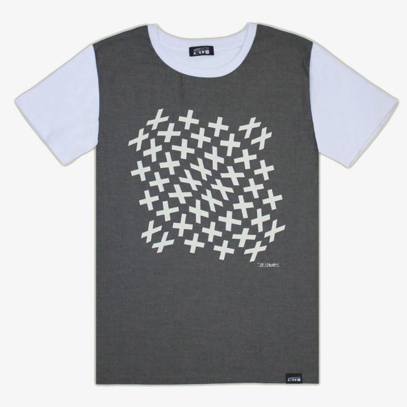 t-shirt imprimé en Belgique Bruxelles, Jean-Pierre Maury artiste belge
