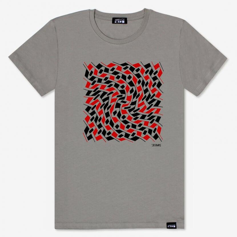 T-shirt homme opal Jean-Pierre Maury artiste belge