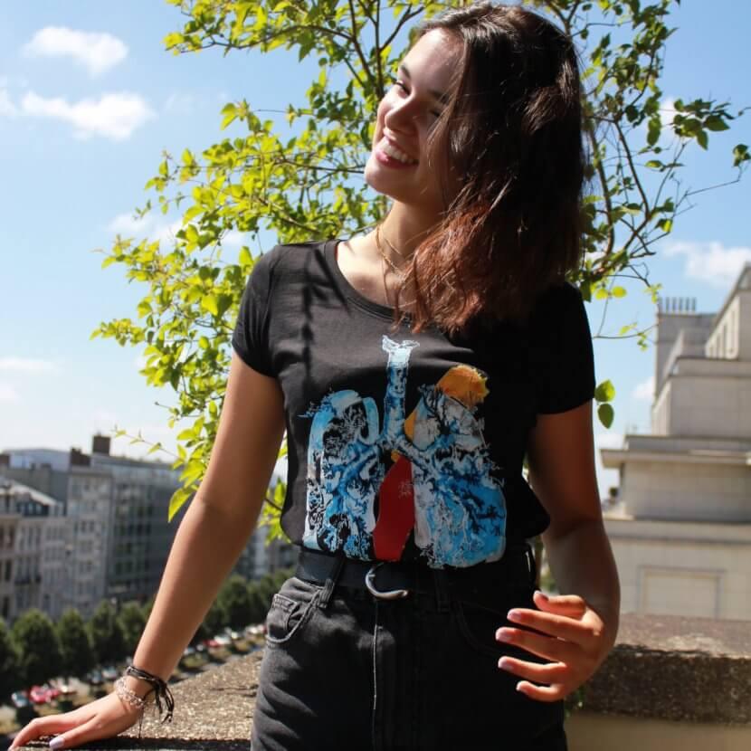 t-shirt women original coton bio de Mig Quinet