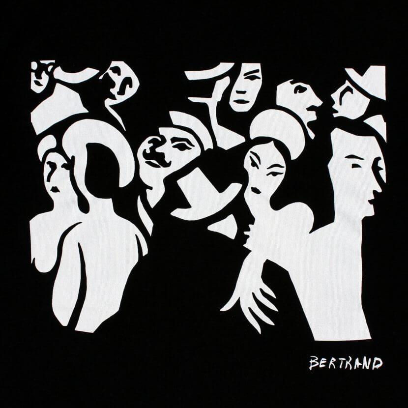 T-shirt noir homme série limitée artiste belge Gaston Bertrand