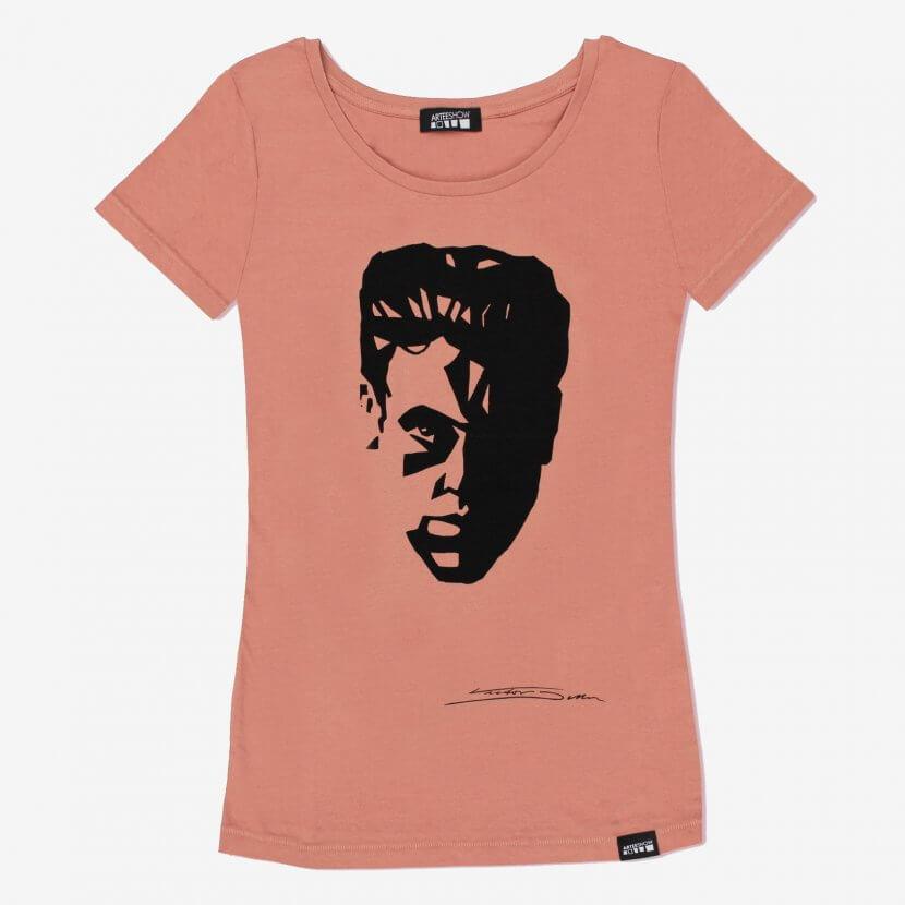 Tee-shirt original Femme Salty Rose Victor Delhez artiste belge