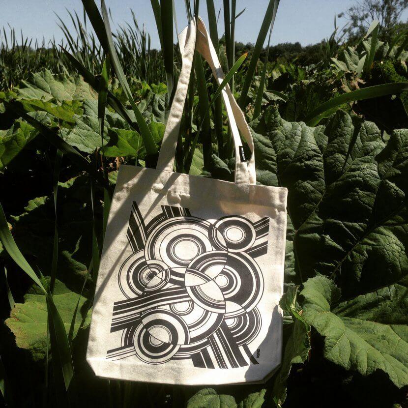 Tote bag en toile recyclée Flouquet artiste belge