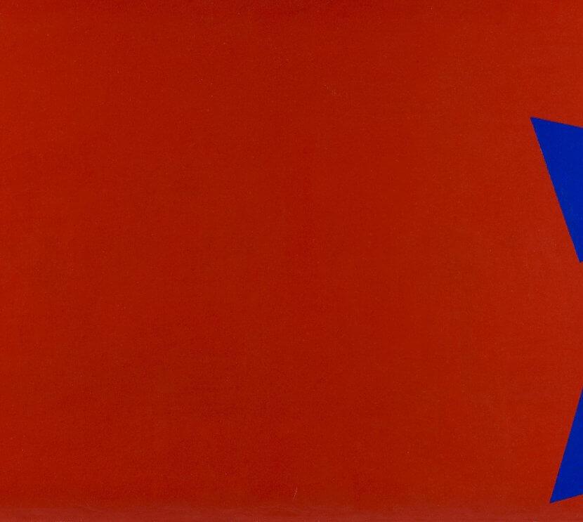 Paul Van Hoeydonck, composition 1958 huile sur toile