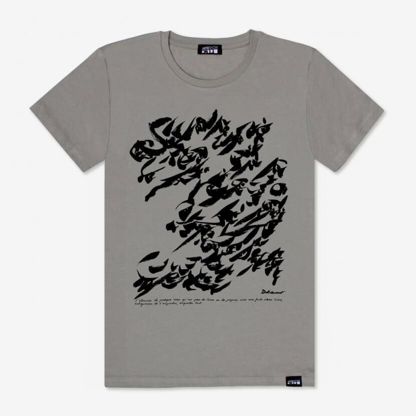 T-Shirt Homme couleur Opal inspiré de l'œuvre de Christian Dotremont, fondateur du mouvement COBRA