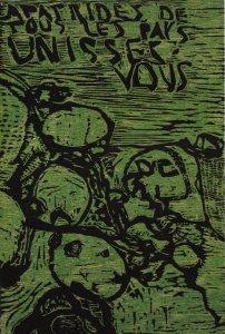 Affiche de Christian Dotremont Apatrides des tous les pays 1969