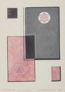 Baugniet Concerto gris et rose, 1981
