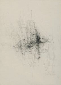 Lismonde Composition abstraite 1973