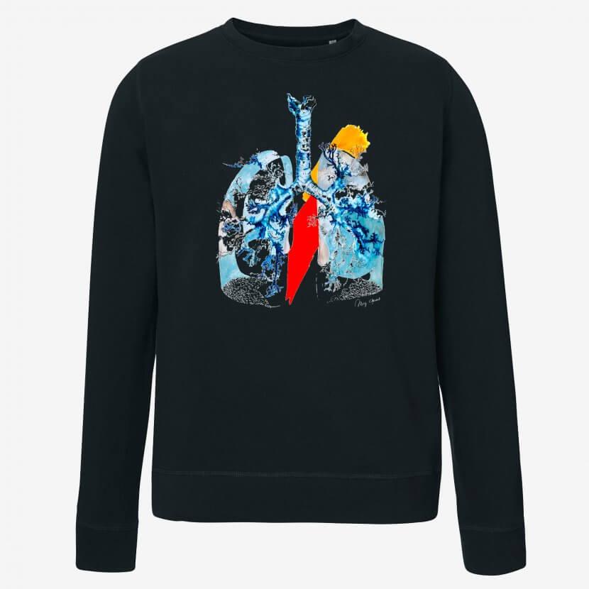 Sweat-shirt unisexe Mig Quinet artiste belge
