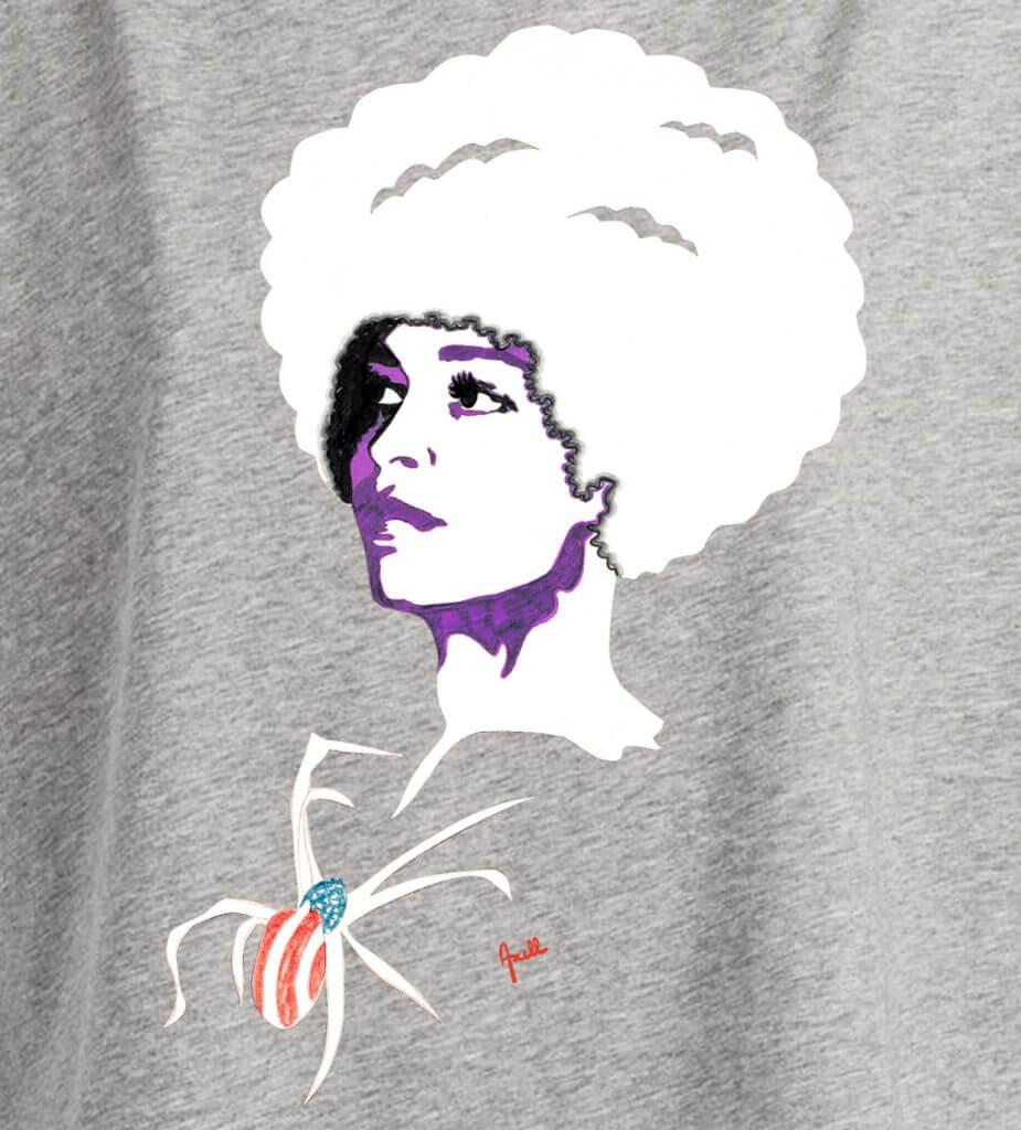 T-shirt femme Heather Grey original série limitée Evelyne Axell