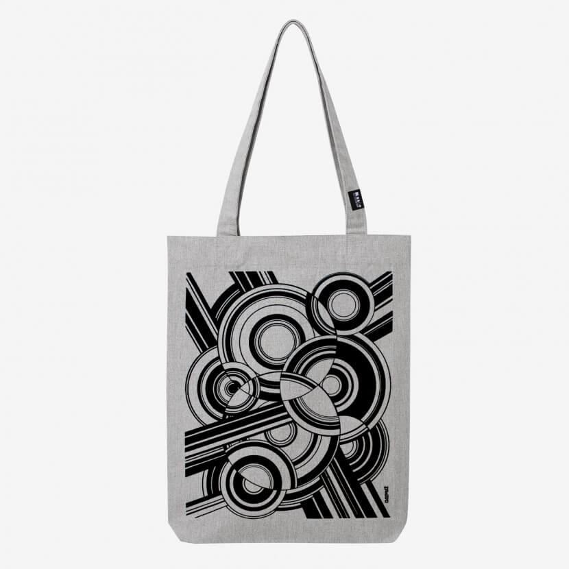Tote bag heather grey originaux printed belgium