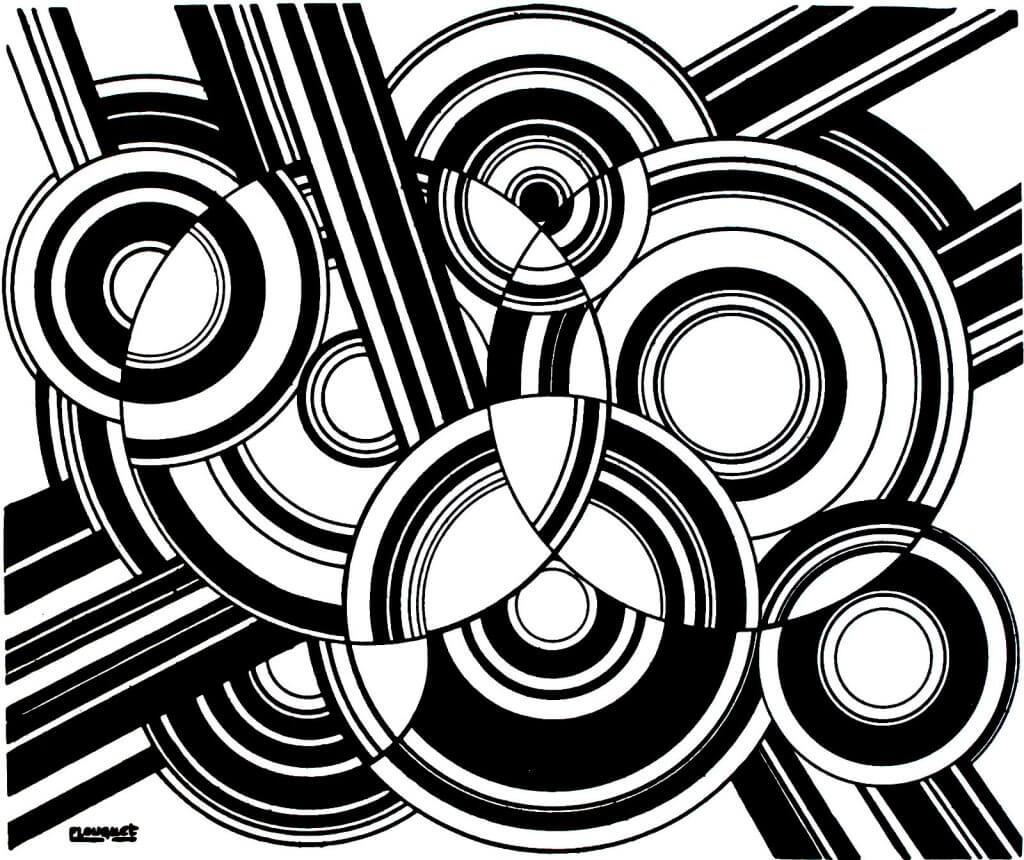Pierre-Louis Flouquet, Pythagorisme esthétique, 1924, Linogravure