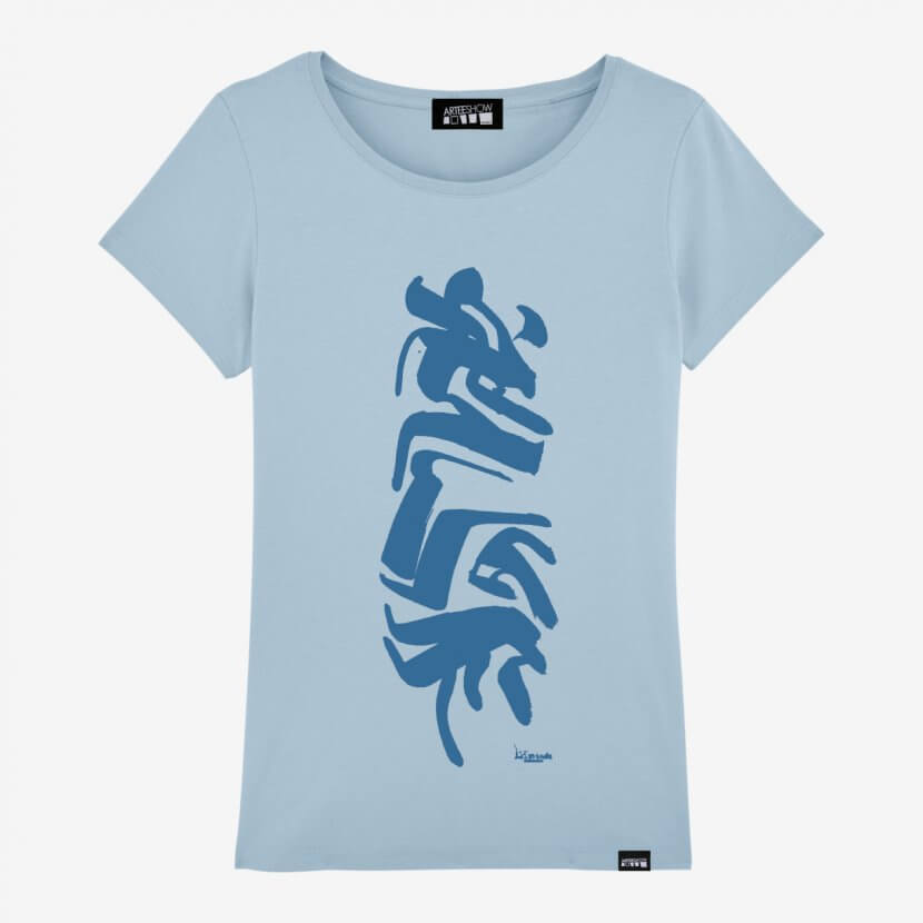T-shirt femme bleu inspiré par Jules Lismonde