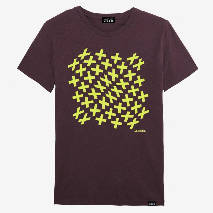 T-shirt Homme coton bio imprimé en Belgique Maury
