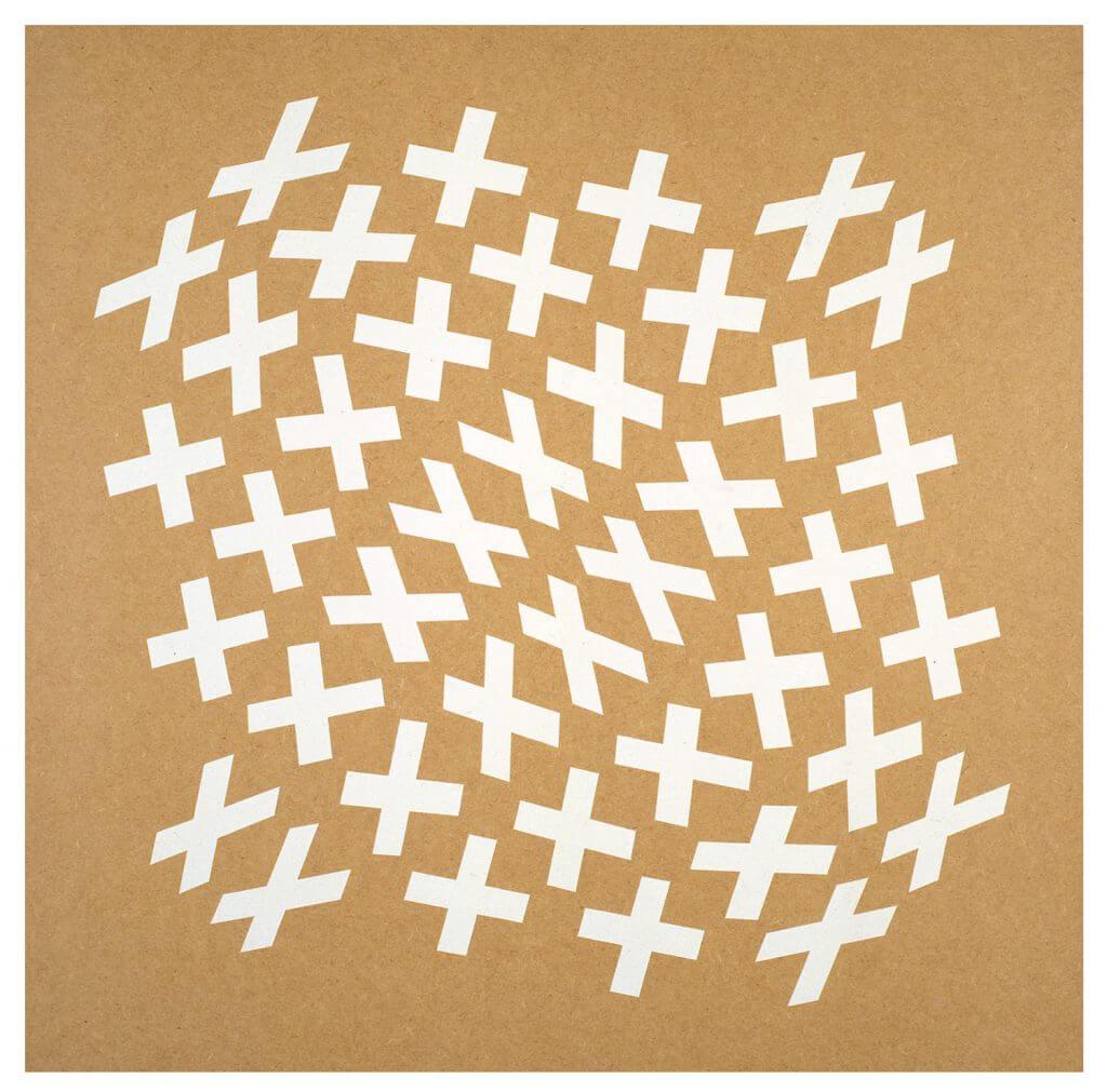 Jean-Pierre Maury, «MDF2001010», 1993, peinture acrylique sur panneau MDF