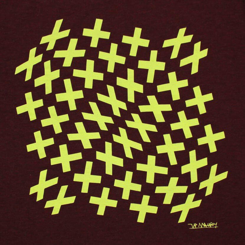 Tee-shirt imprimé en Belgique Maury artiste belge