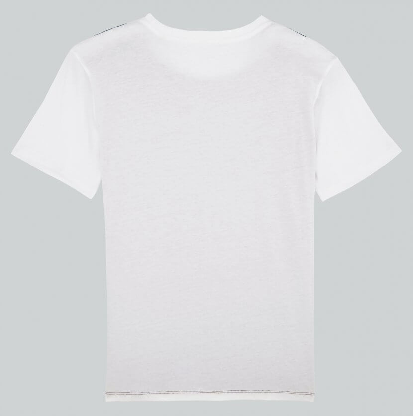 t-shirt homme white dos
