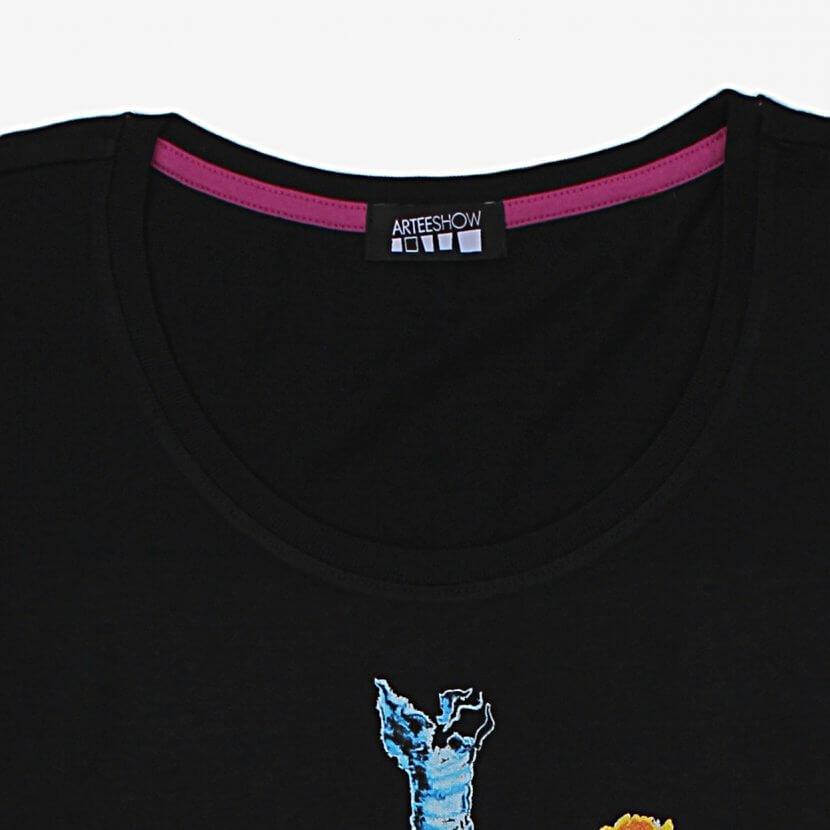 T-shirt noir détail Mig Quinet