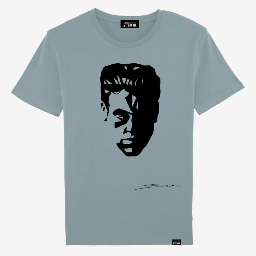 T-shirt Homme en coton bio bleu art belge Victor Delhez