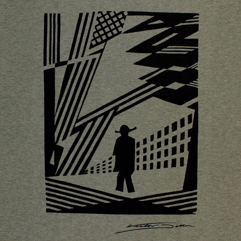 T-shirt kaki imprimé en Belgique sérigraphie de Victor Delhez