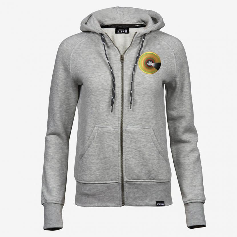 Hoodie zippé Heather Grey Evelyne Axell Le Mur du son artiste pop art belge