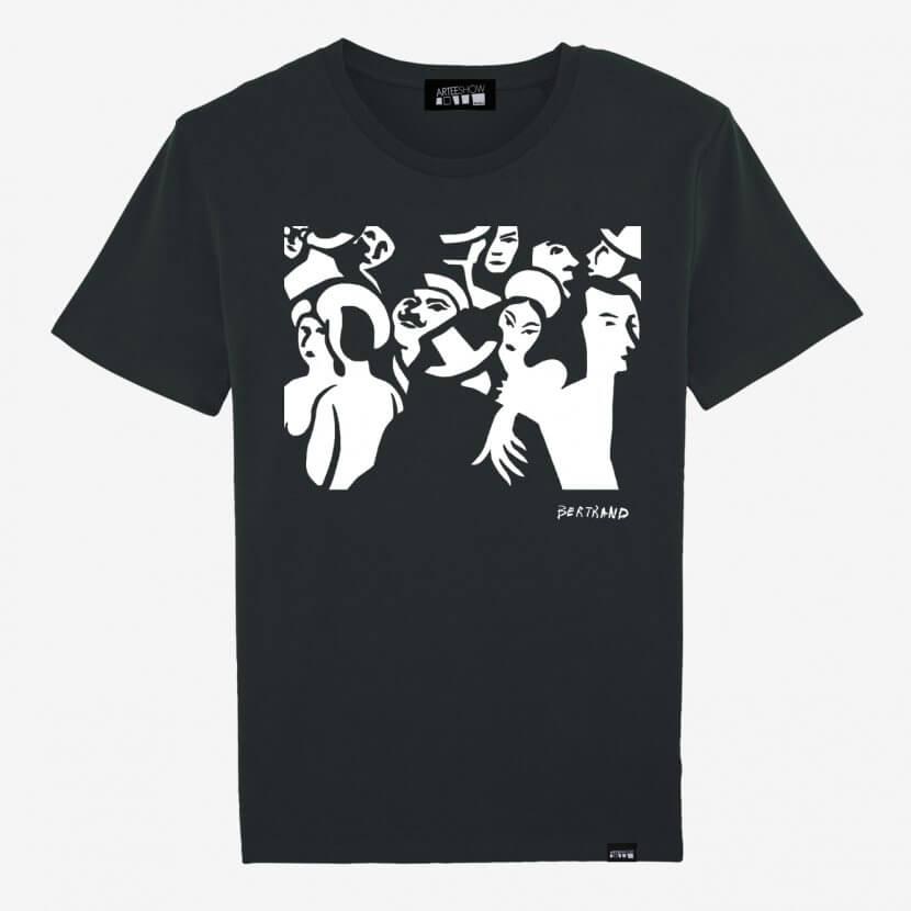 T-shirt men black artiste belge Gaston Bertrand