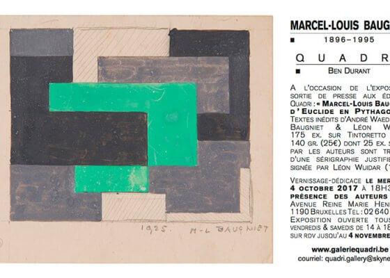 Exposition Marcel-Louis Baugniet à la galerie Quadri, Bruxelles