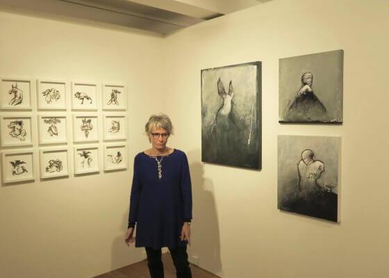Michèle Grosjean à la galerie Lieve Lambrecht en novembre 2017