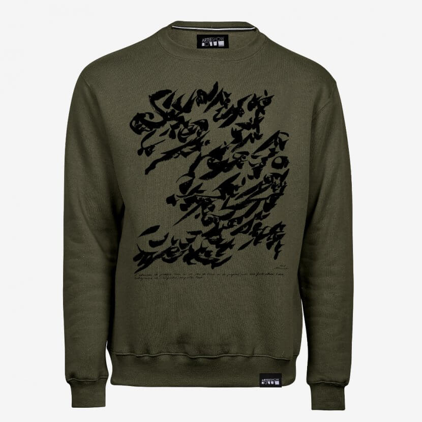 Sweat-shirt Homme Olive Cobra Christian Dotremont