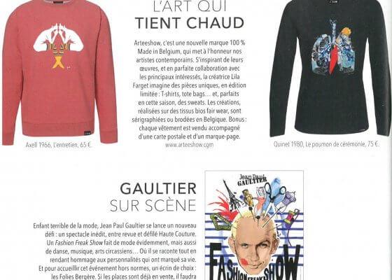 Article Arteeshow magazine SoSoir