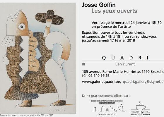 Josse Goffin à la galerie Quadri 2018