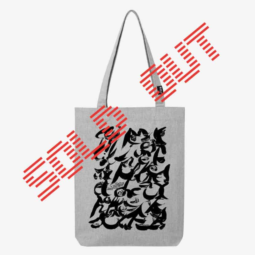 Tote bag christian dotremont logogramme