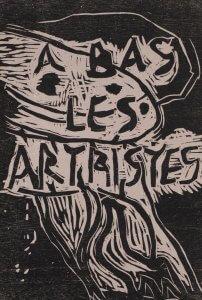 Christian Dotremont affiche A bas les artistes