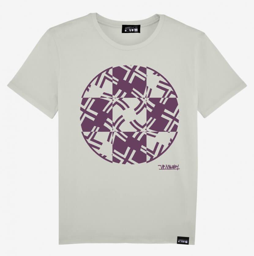 Tee-shirt Homme Jean-Pierre Maury coton biologique imprimé en Belgique