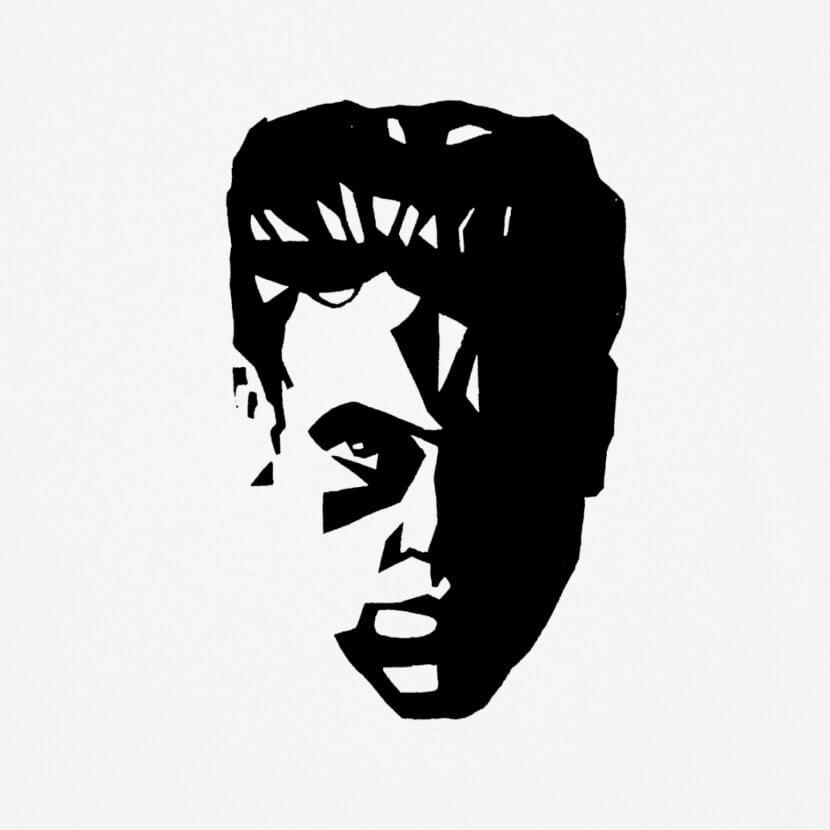 T-shirt Homme blanc Delhez art belge