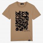 T-shirt Homme couleur Camel coton biologique imprimé en Belgique