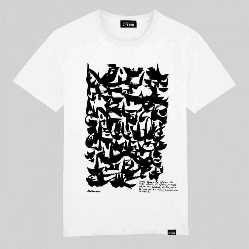 T-shirt Homme blanc en coton bio épais de Christian Dotremont