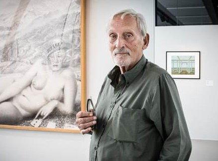 Photo de Serge Goyens de Heusch au Musée L de Louvain-la-Neuve