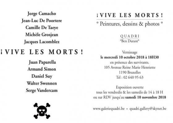Invitation galerie Quadri Bruxelles avec Michèle Grosjean