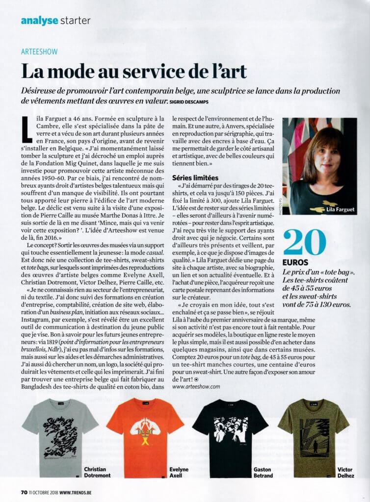 La Mode Au Service De Lart Avec Des T Shirts Belges Originaux Trends Tendances