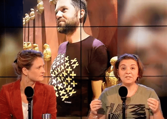 Arteeshow sur Vivacité RTBF avec Cindya Izzarelli t-shirts belges