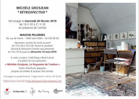 Exposition de Michèle Grosjean artiste belge à la Maison Pelgrims